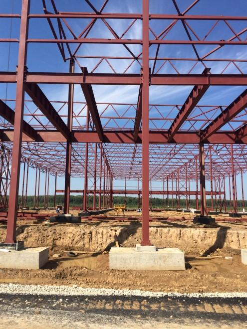 Фотографии выполненных работ по строительству складских помещений