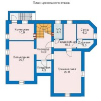 План цокольного этажа